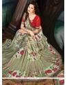Integral Georgette Multi Colour Print Work Printed Saree