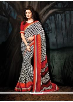 Fashionable Print Work Multi Colour Printed Saree