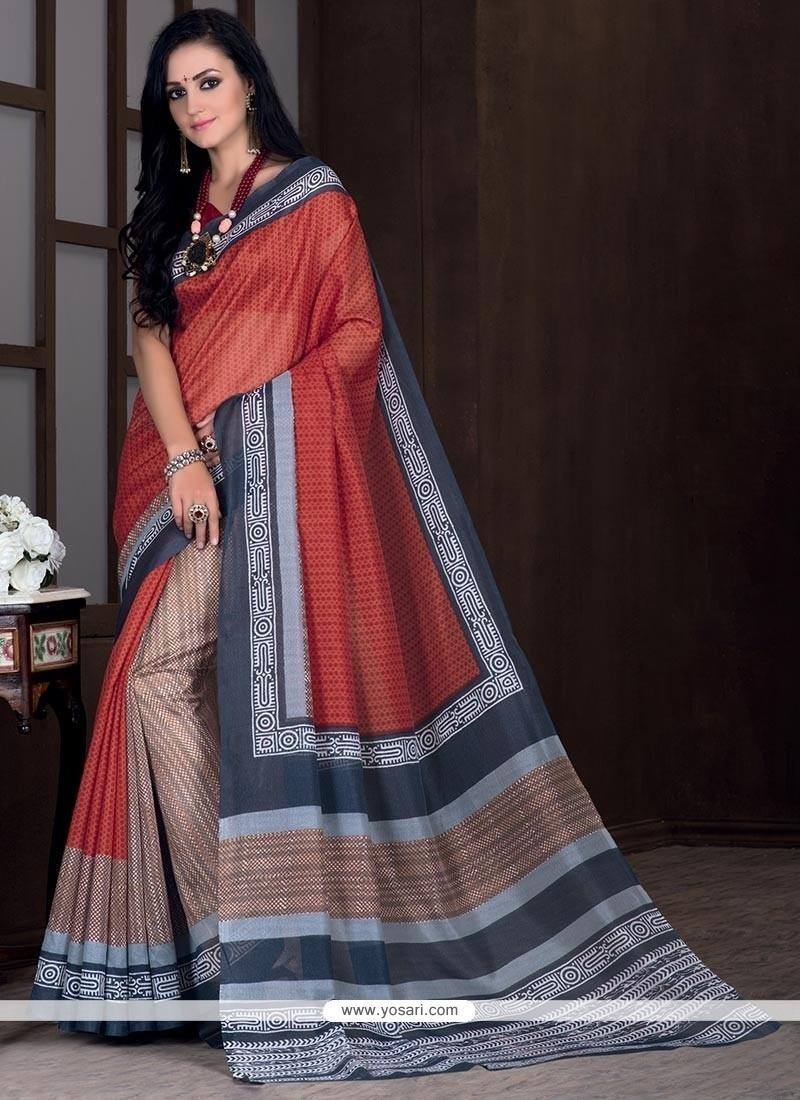 Hypnotic Bhagalpuri Silk Multi Colour Casual Saree