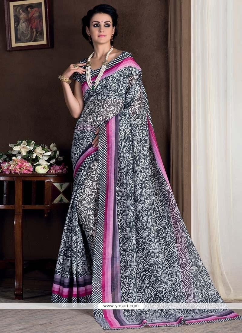 Angelic Bhagalpuri Silk Printed Saree