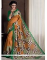 Winsome Bhagalpuri Silk Multi Colour Print Work Casual Saree