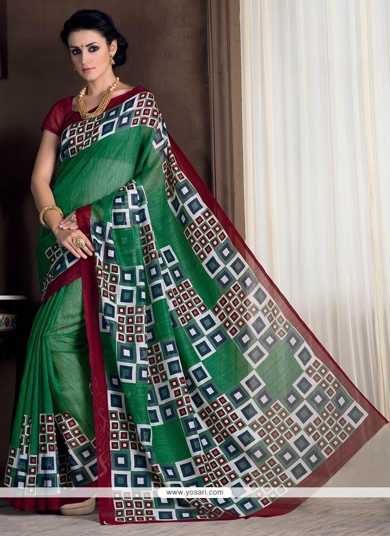 Cute Bhagalpuri Silk Casual Saree