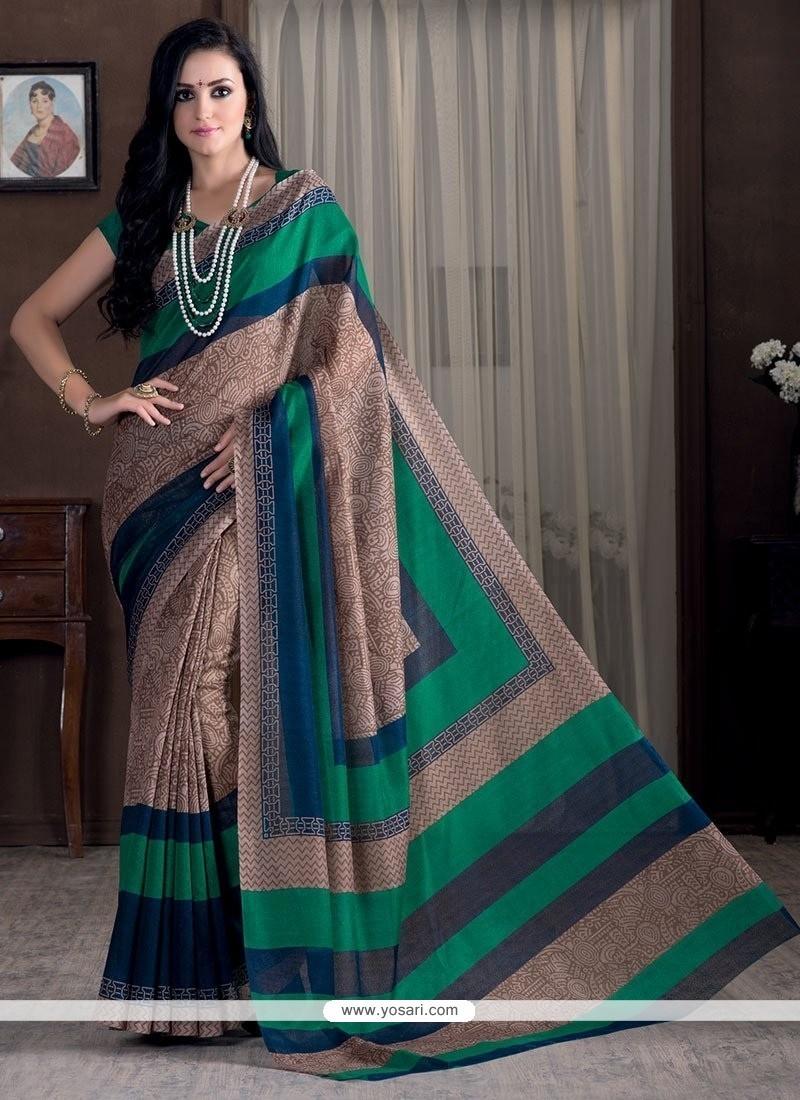 Fetching Beige Bhagalpuri Silk Casual Saree