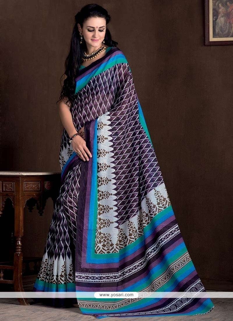Festal Bhagalpuri Silk Multi Colour Casual Saree