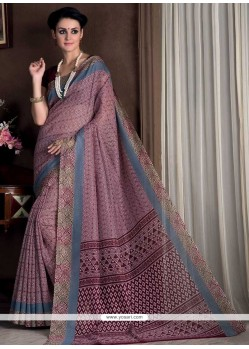 Glossy Print Work Multi Colour Casual Saree