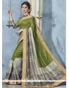 Mesmerizing Green Printed Saree