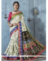 Adorning Bhagalpuri Silk Print Work Printed Saree