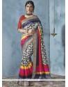 Swanky Multi Colour Printed Saree
