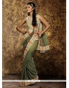 Piquant Embroidered Work Viscose Traditional Saree