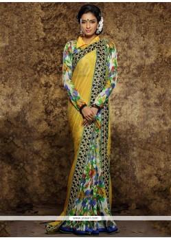Multi Colour Patch Border Work Viscose Traditional Saree