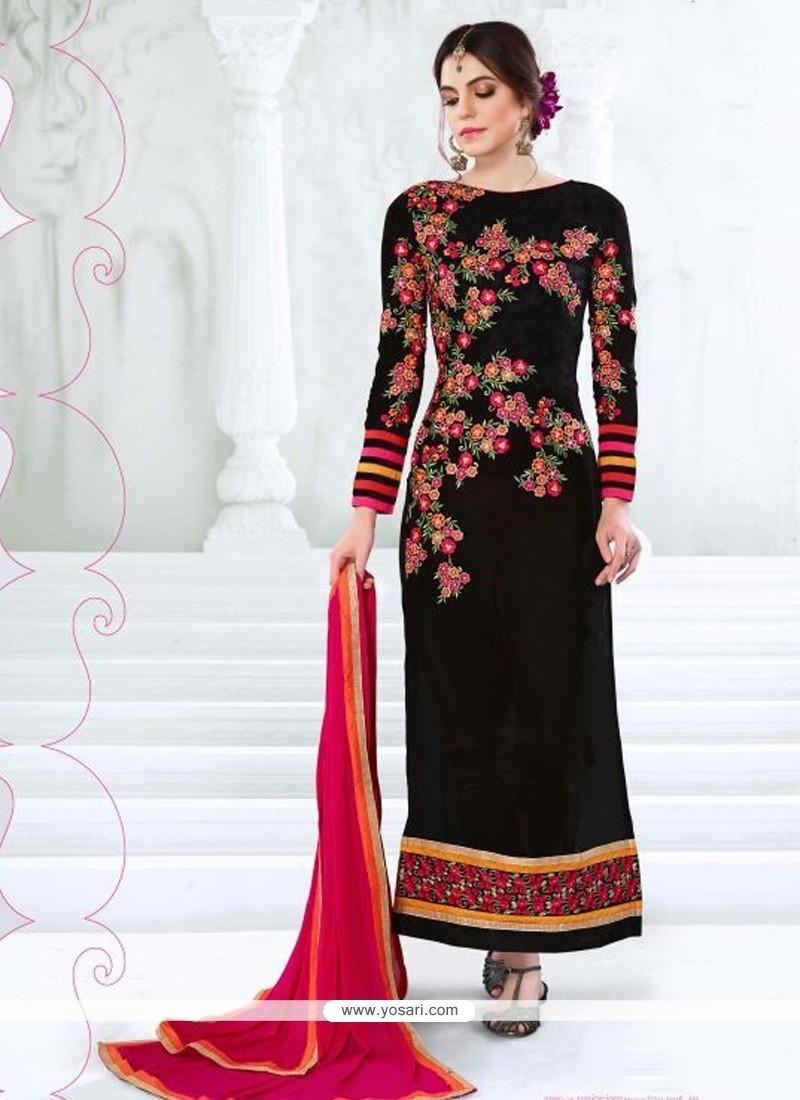Grandiose Embroidered Work Designer Straight Salwar Kameez