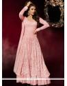 Suave Resham Work Pink Georgette Designer Suit