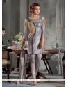 Pristine Georgette Sequins Work Designer Suit