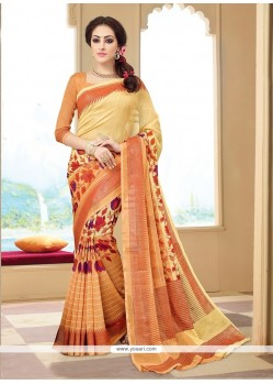 Ethnic Silk Multi Colour Print Work Printed Saree