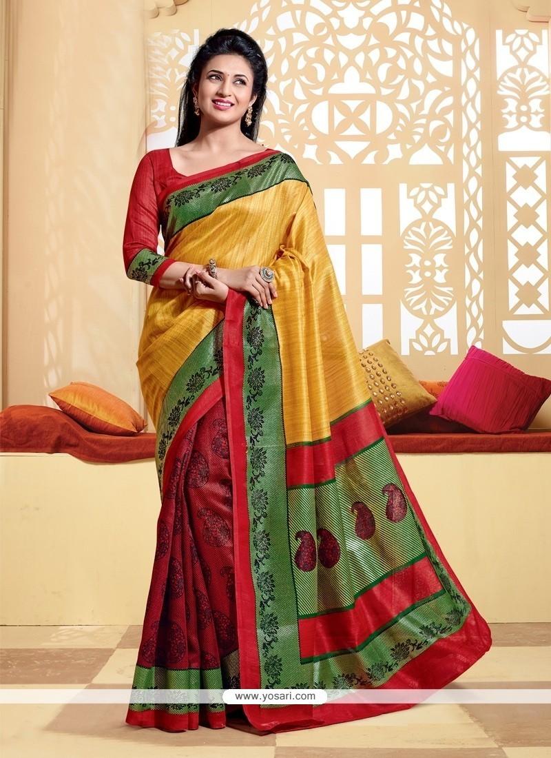 Cute Silk Printed Saree
