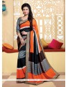 Tantalizing Silk Multi Colour Print Work Printed Saree