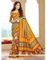 Whimsical Silk Multi Colour Printed Saree