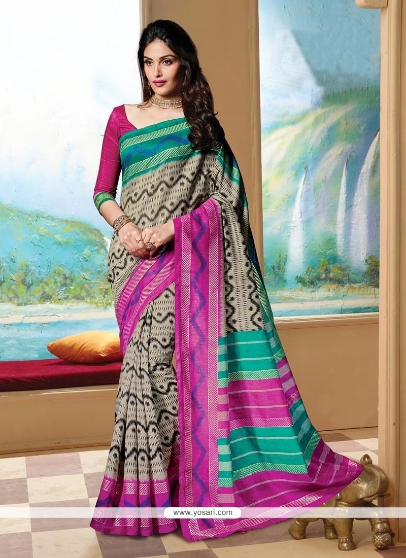 Phenomenal Silk Multi Colour Print Work Printed Saree
