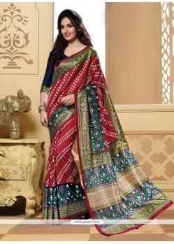 Nice Multi Colour Print Work Printed Saree