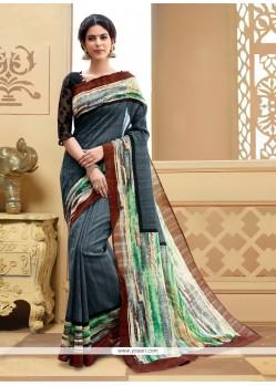 Exciting Multi Colour Printed Saree
