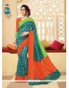 Marvelous Silk Print Work Printed Saree