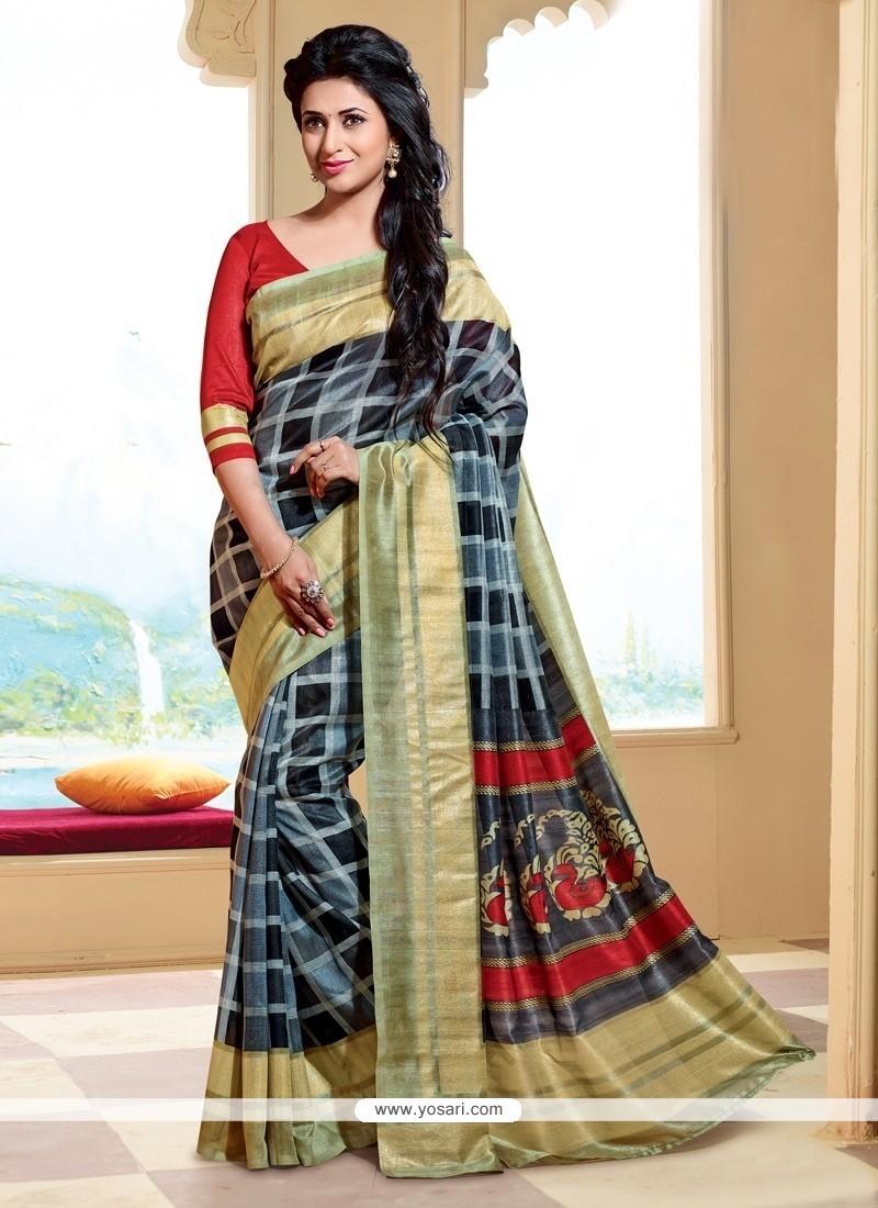 Regal Silk Print Work Printed Saree