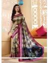 Voluptuous Silk Multi Colour Printed Saree