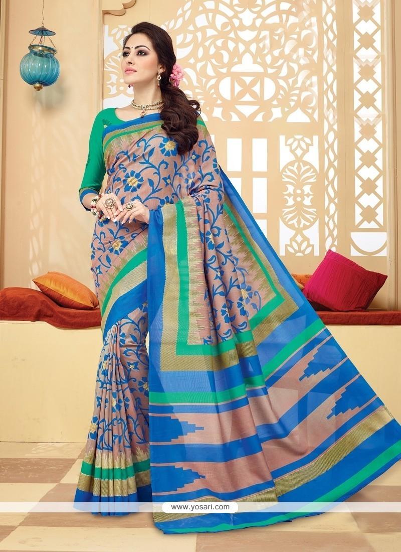 Specialised Multi Colour Printed Saree