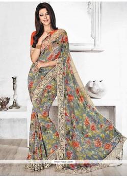 Impeccable Multi Colour Printed Saree