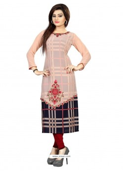 Charismatic Embroidered Work Party Wear Kurti