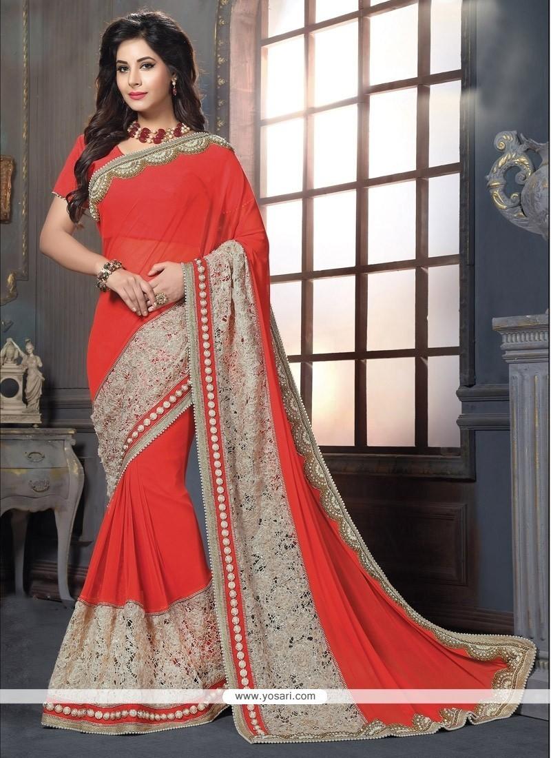 Alluring Patch Border Work Classic Designer Saree