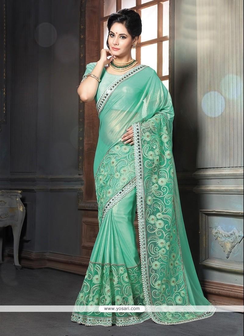 Honourable Sea Green Classic Designer Saree