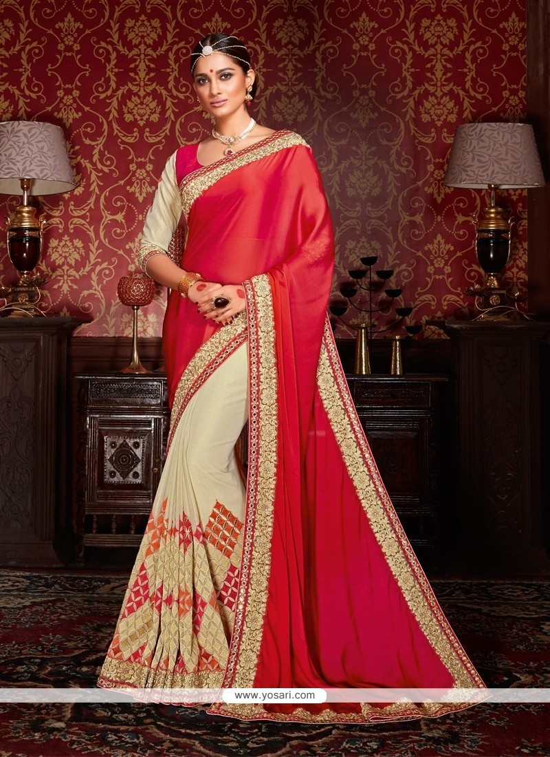 Stylish Georgette Embroidered Work Designer Traditional Sarees