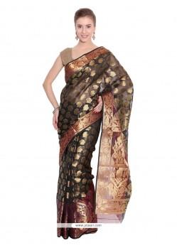Graceful Weaving Work Art Silk Traditional Saree