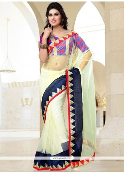 Glorious Off White Net Casual Saree