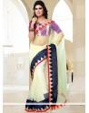 Glorious Off White Net Casual Saree