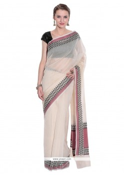 Picturesque Beige Weaving Work Designer Traditional Sarees