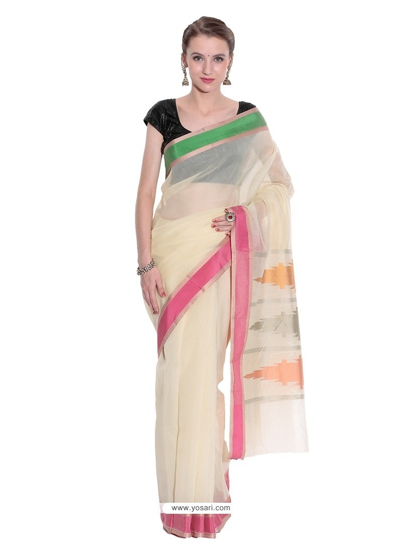 Savory Art Silk Beige Classic Saree