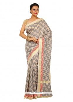 Jazzy Tussar Silk Weaving Work Designer Traditional Sarees