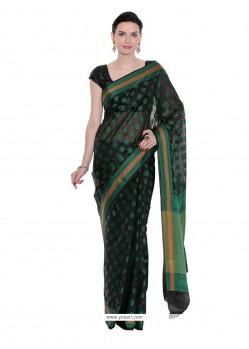 Swanky Weaving Work Art Silk Trendy Saree