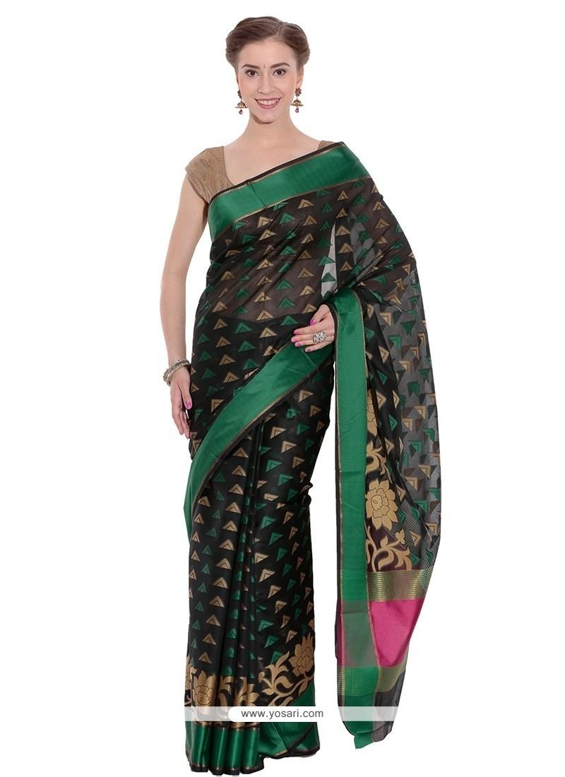 Invaluable Black Trendy Saree
