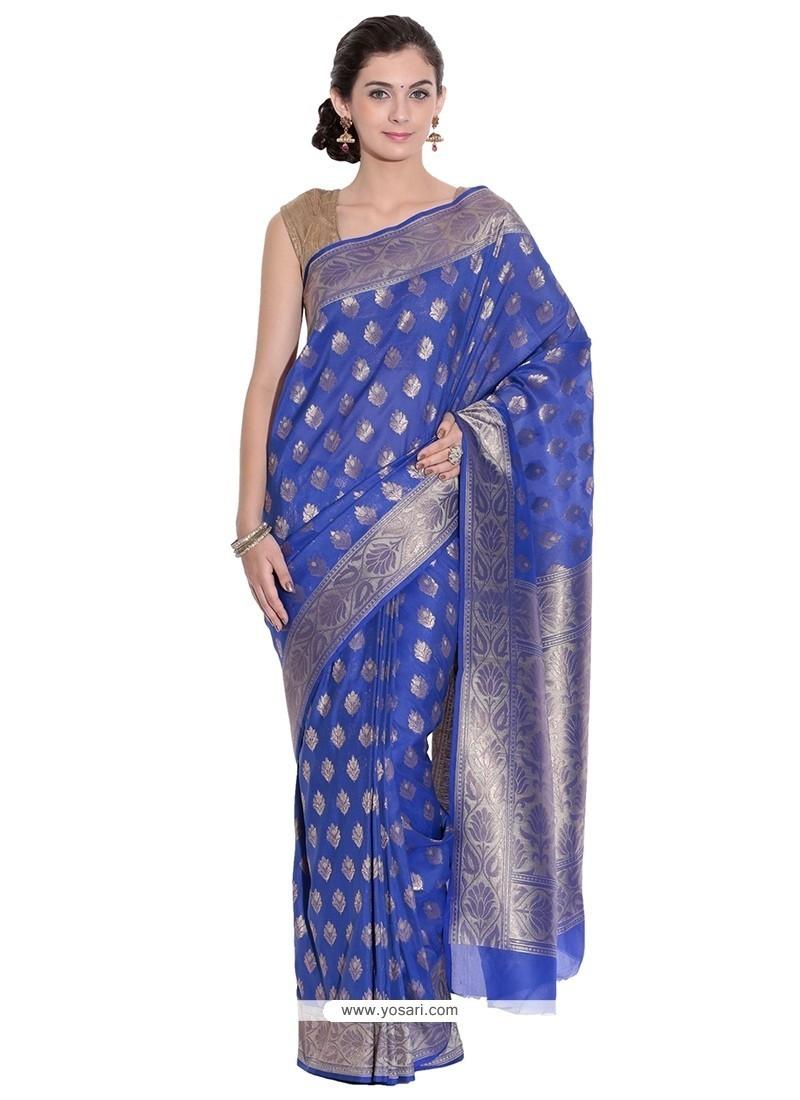 Divine Blue Classic Saree