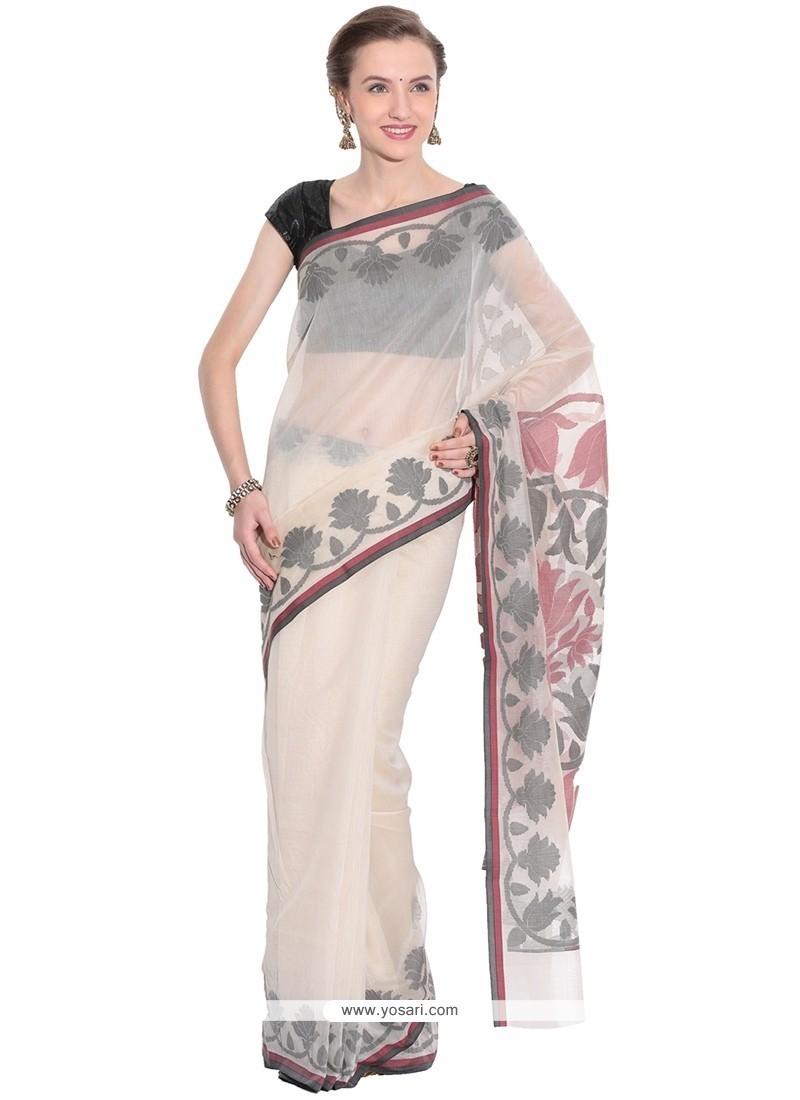 Picturesque Weaving Work Beige Art Silk Classic Saree