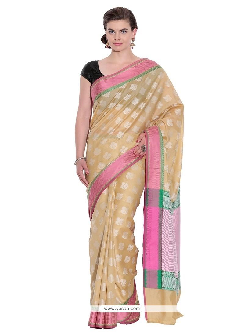 Brilliant Cotton Beige Classic Saree