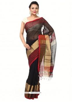 Graceful Weaving Work Black Classic Saree