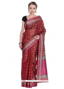 Immaculate Art Silk Weaving Work Traditional Saree