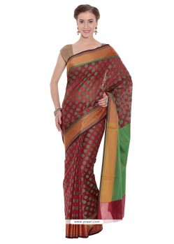 Hypnotizing Art Silk Weaving Work Classic Designer Saree
