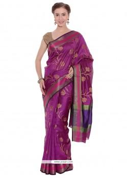 Prominent Magenta Art Silk Classic Designer Saree