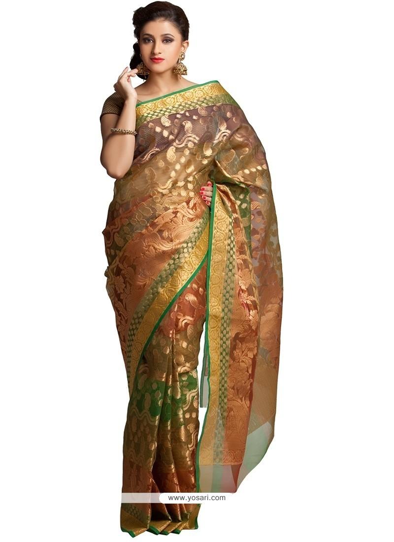 Girlish Weaving Work Classic Saree