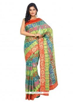 Nice Weaving Work Traditional Saree